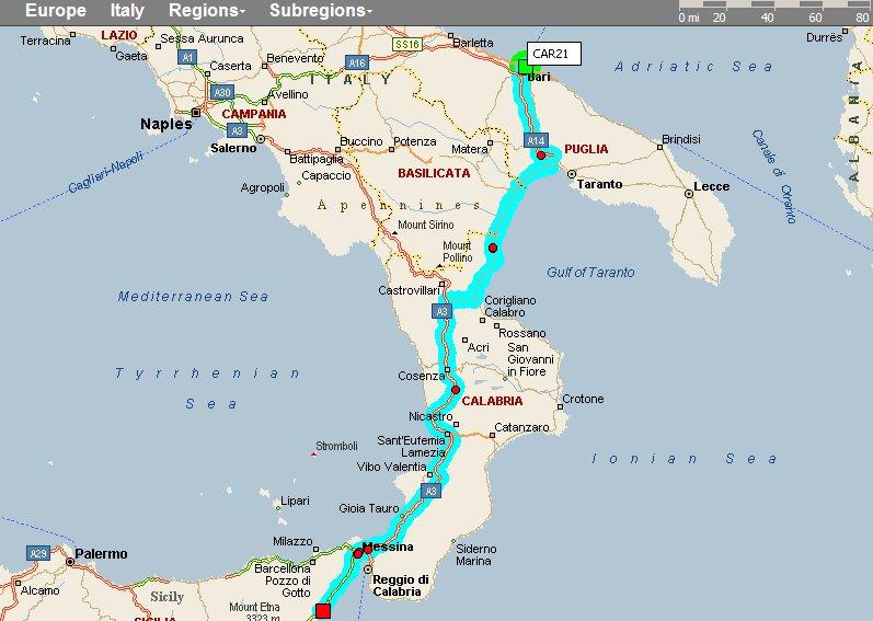 Italy Bari Map Bari Italy Toarmina Scily Citiestips Com